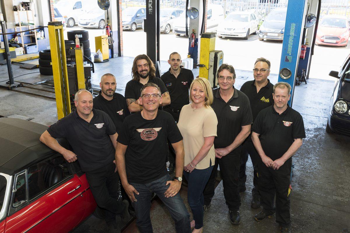 The staff at Bellfields Auto Services Garage